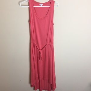 EUC Gap Tank High/Low Dress Coral size Small